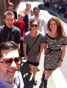 The Collabforge team on the way to lunch