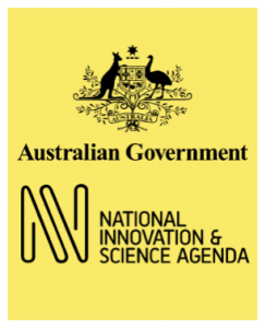 Logos for the Australian Government and the National Innovation & Science Agenda